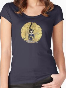 Goddess of Robotic Geishas Women's Fitted Scoop T-Shirt