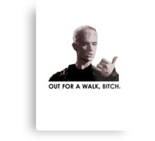 Spike, out for a walk - dark font (TSHIRT) Metal Print