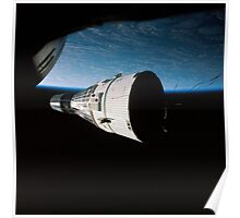 Gemini 7 spacecraft as seen from Gemini 6 in orbit around the earth - Historic Photo Poster