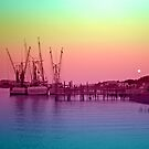Sunset Boats by Robin D. Overacre