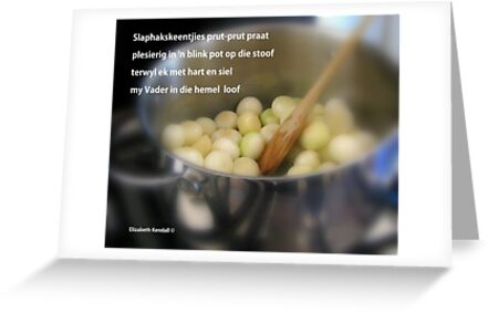 A recipe from South Africa by Elizabeth Kendall