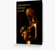 Congratulations on the birth of your child Greeting Card