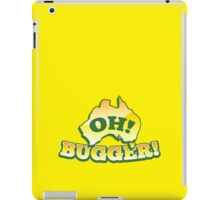OH! Bugger! Aussie Australian map OZ funny design iPad Case/Skin
