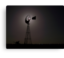 Embraced By The Moon Canvas Print