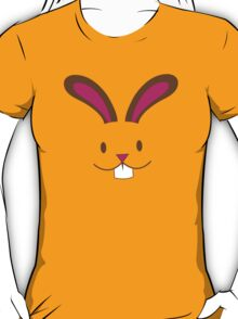 Simple and cute Easter bunny rabbit face smiling T-Shirt