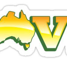 LOVE and an Aussie Australian MAP LOVE AUSTRALIA! Sticker