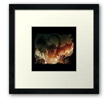 I am fire, i am death. Framed Print