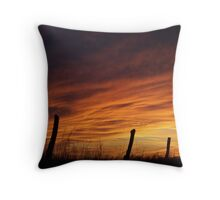 Unexpected Crimson Sunset Throw Pillow