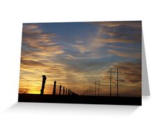 High Lines, Low Lines Greeting Card