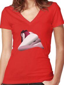 Solitudine Women's Fitted V-Neck T-Shirt