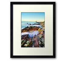 Colourful geology Framed Print