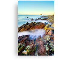 Colourful geology Canvas Print
