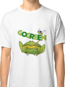 Funny Ecology Go Green Frog Classic T-Shirt
