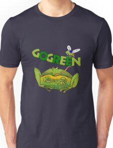 Funny Ecology Go Green Frog Unisex T-Shirt