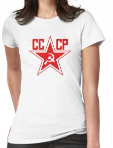 Russian Soviet Red Star CCCP (Clean) Womens Fitted T-Shirt