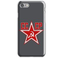 Russian Soviet Red Star CCCP iPhone Case/Skin