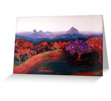 Glasshouse Mountains. Greeting Card