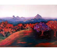 Glasshouse Mountains. Photographic Print