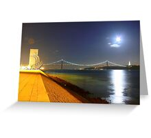 Summer night. Lisbon Greeting Card