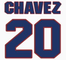National baseball player Jesse Chavez jersey 20 by imsport