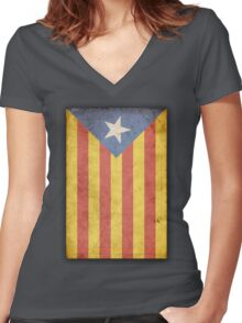 Catalunya Women's Fitted V-Neck T-Shirt
