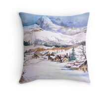 snow scene Throw Pillow