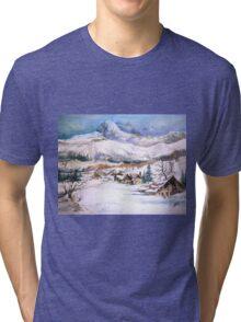 snow scene Tri-blend T-Shirt