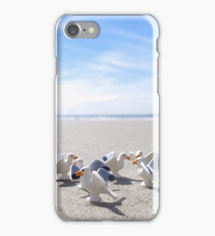 Meanwhile, on a nearby beach, birds. iPhone Case/Skin