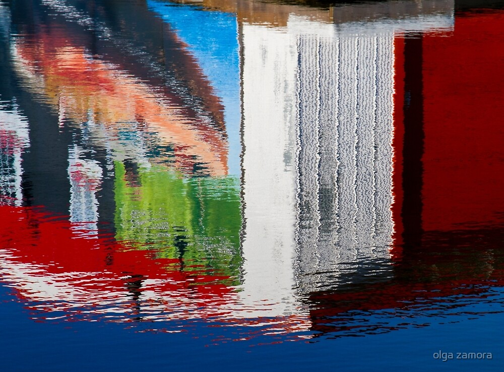 Dock Reflections by olga zamora