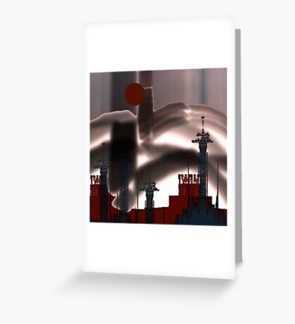 Strange :Landscape ! Greeting Card