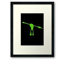 Green hero Framed Print