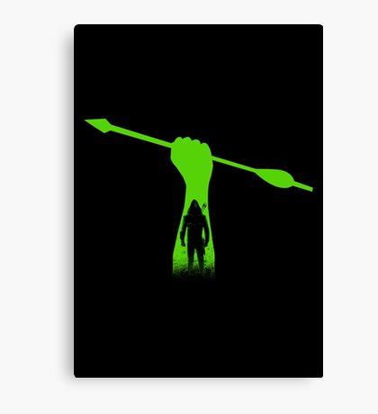 Green hero Canvas Print