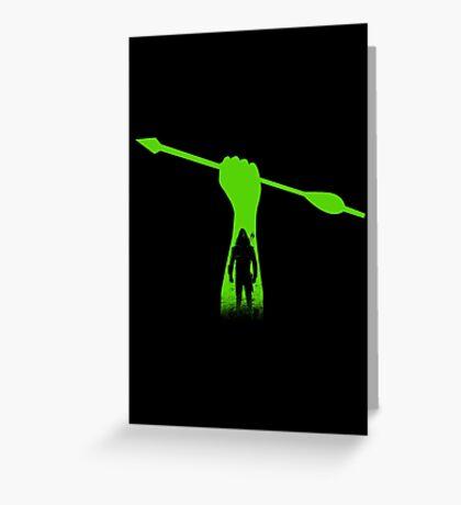 Green hero Greeting Card