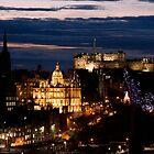 Edinburgh at Night by Kirsty Hodge