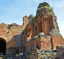 Roman Remains At Taormina by Malcolm Snook