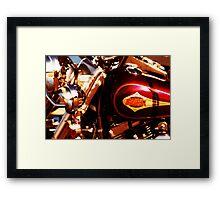 Harley Davidson Gas Tank Framed Print