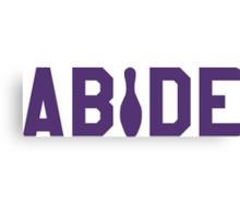 Abide - Purple Font Canvas Print