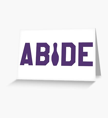 Abide - Purple Font Greeting Card