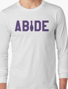 Abide - Purple Font Long Sleeve T-Shirt