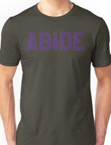 Abide - Purple Font Unisex T-Shirt