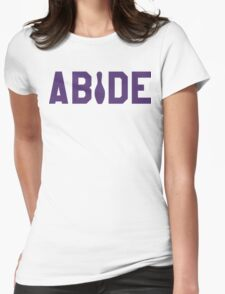Abide - Purple Font Womens Fitted T-Shirt