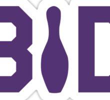 Abide - Purple Font Sticker