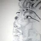 Kemetic Reflection - King Tutanhkamun  by Charles Ezra Ferrell