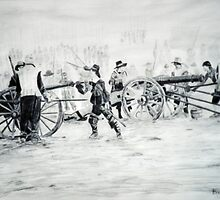cannon crew drawing by TRACY BAGNALL