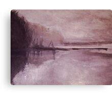 Pond at Winter Canvas Print