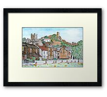 Graphite and Coloured Pencil Drawing of  Richmond, Yorkshire - all products Framed Print