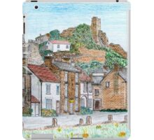 Graphite and Coloured Pencil Drawing of  Richmond, Yorkshire  iPad Case/Skin