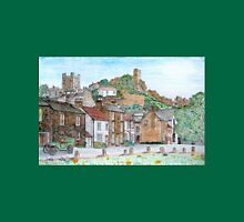 Graphite and Coloured Pencil Drawing of  Richmond, Yorkshire  Unisex T-Shirt