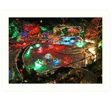 Christmas Lights in Butchart Gardens ..... Art Print