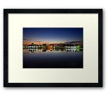 Tourlida twilight - Lagoon of Messolonghi Framed Print